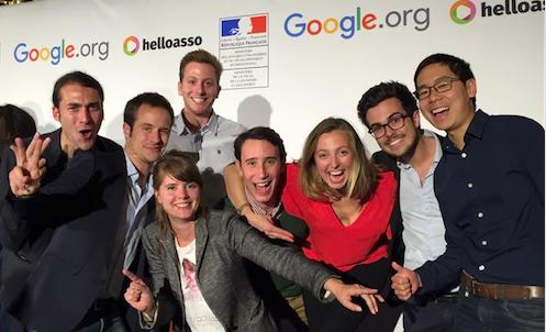 L'équipe de Voxe à la remise des prix du Google Impact Challenge en 2015