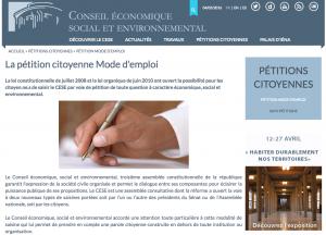 Conseil Economique Social et Environnemental - CivicTech Civic Tech