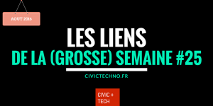 Les liens civic tech du mois d'aout - civictech