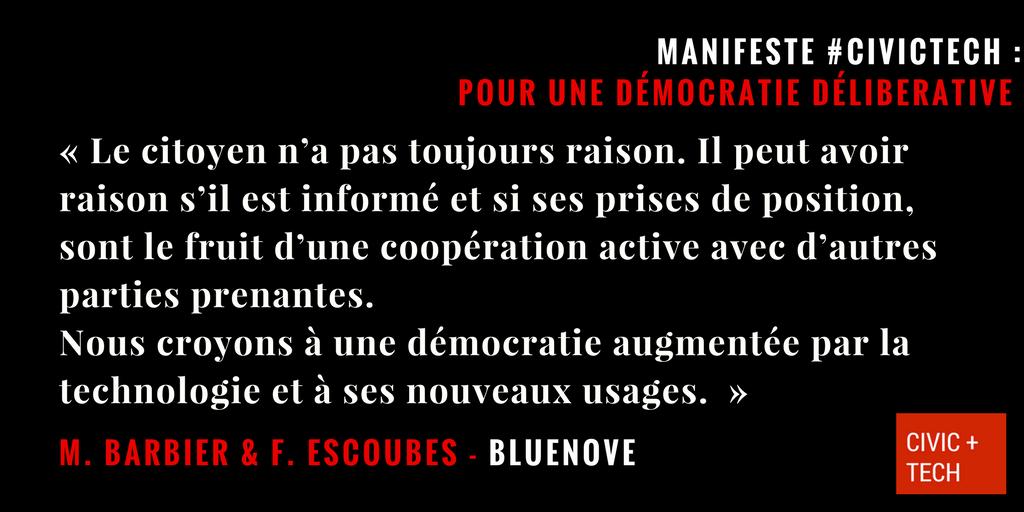 Nous croyons à une démocratie délibérative - civic tech civictech