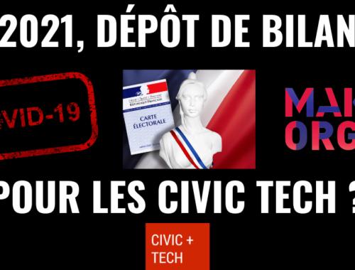 2021 : dépôt de bilan pour la CivicTech ?
